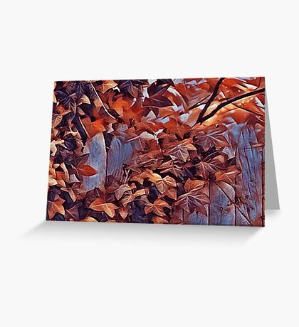 The Blue Fence Greeting Card