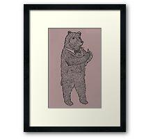 Ring Bear Framed Print