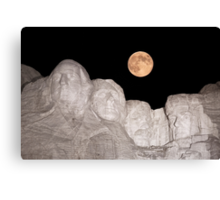 Blue moon over Mount Rushmore National Memorial Canvas Print