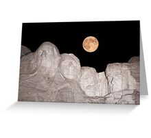 Blue moon over Mount Rushmore National Memorial Greeting Card