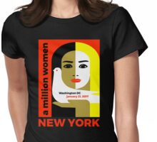 Women's March On New York - Post Inauguration Womens Fitted T-Shirt