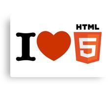 I love HTML5 Canvas Print