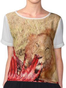 Lion with a snack Chiffon Top