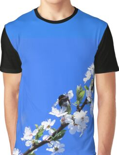 Bee and white flowers Graphic T-Shirt