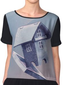 Freezing Bird...house Chiffon Top