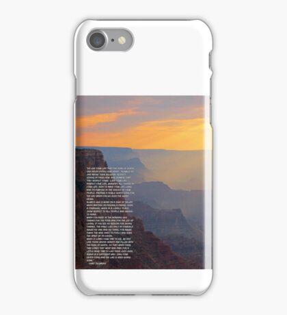 Tecumseh Poem iPhone Case/Skin