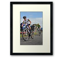 Cyclists at the Glasgow Commonwealth Games Framed Print