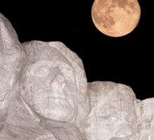 Blue moon over Mount Rushmore National Memorial Sticker