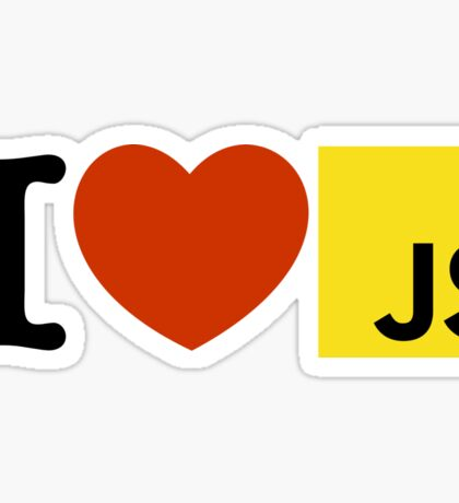 I love JAVASCRIPT JS Sticker