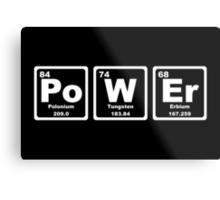 Power - Periodic Table Metal Print