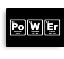 Power - Periodic Table Canvas Print