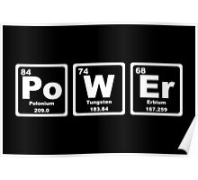 Power - Periodic Table Poster