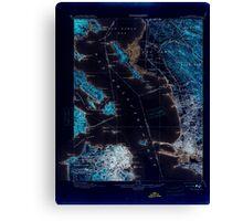 USGS TOPO Map California CA San Francisco 298895 1899 62500 geo Inverted Canvas Print