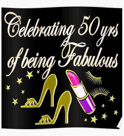 GORGEOUS 50TH BIRTHDAY DIVA DESIGN Poster