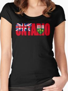 Ontario Flag Women's Fitted Scoop T-Shirt