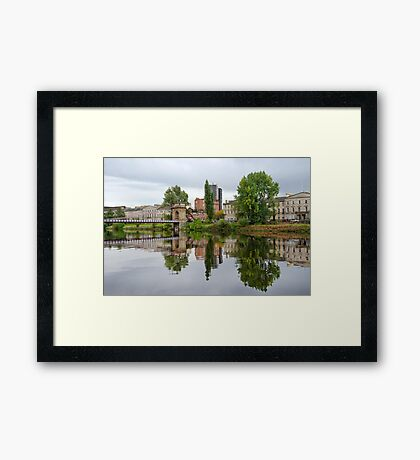 South Portland Street Suspension Bridge, River Clyde Framed Print