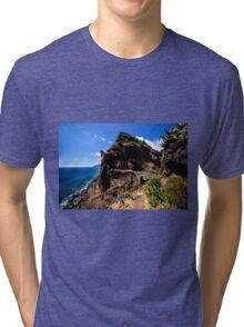 Paradise Cliff - Nature Photography Tri-blend T-Shirt