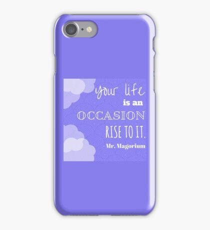 Rise to it iPhone Case/Skin