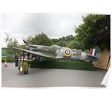 Replica Spitfire at Trelawney. Poster