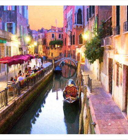 Romantic Venice Italy Canal Sticker