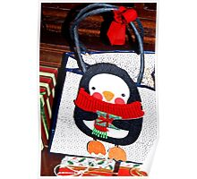 Penguin gift decoration Poster