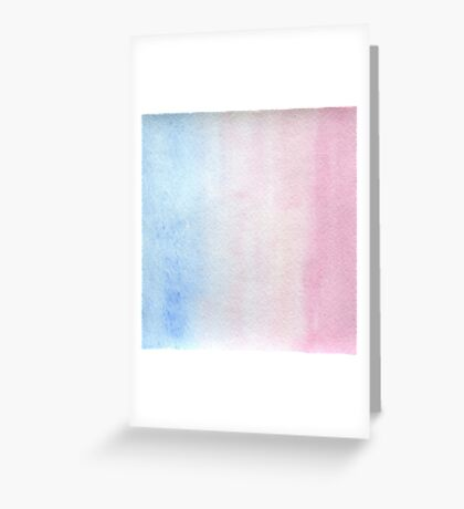 Watercolor texture light blue and pink Greeting Card
