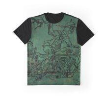 Death! (Blue Background) Graphic T-Shirt