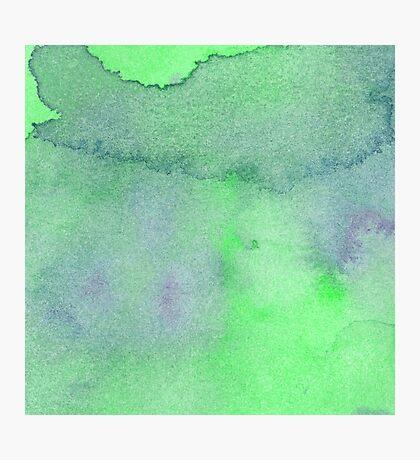 Watercolor texture emerald green, mint blue color. Photographic Print