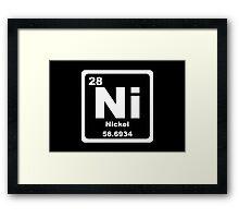 Ni - Periodic Table Framed Print