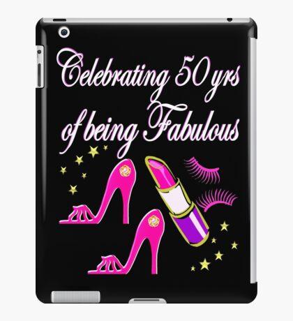 STYLISH 50 AND FABULOUS PINK DIVA DESIGN iPad Case/Skin
