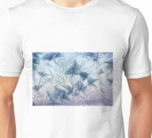 Ice crystals in window Unisex T-Shirt