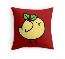 Fat Holly Bird Throw Pillow