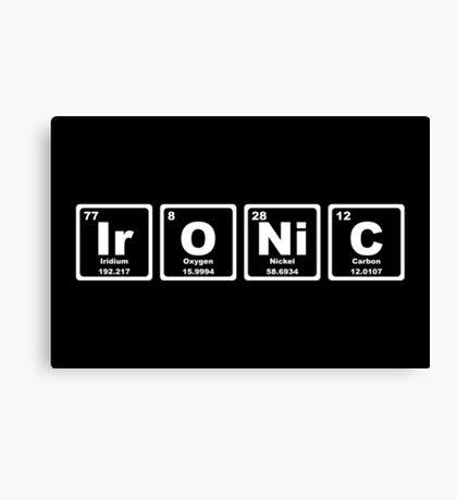 Ironic - Periodic Table Canvas Print