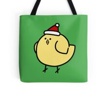 Fat Santa Hat Bird Tote Bag