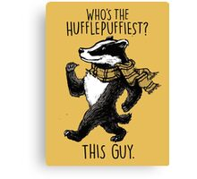 The Hufflepuffiest Canvas Print
