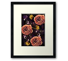 Dead flowers/ Death and Love Framed Print