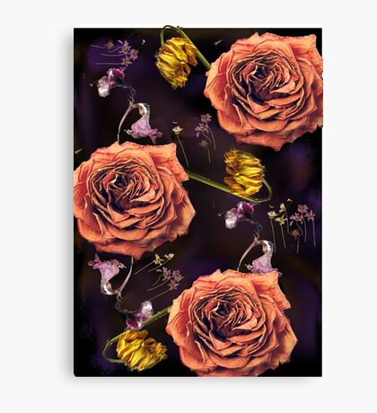Dead flowers/ Death and Love Canvas Print