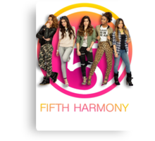 Fifth Harmony in front of cut out Canvas Print