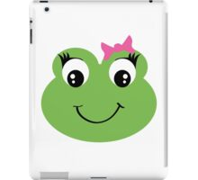 Cute Frog With Pink Bow iPad Case/Skin