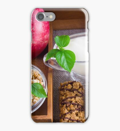Oat cereal with nuts and raisins iPhone Case/Skin