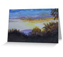 Sunrise over Red Oak Farm Greeting Card
