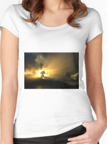 Magnificent Sky - Nature Photography Women's Fitted Scoop T-Shirt