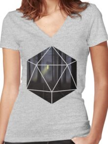 D20 - Cabin in the woods Women's Fitted V-Neck T-Shirt