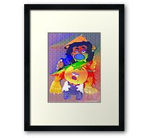 Caught in a double spotlight Framed Print