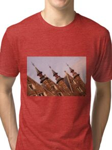 Castle Towers - Travel Photography Tri-blend T-Shirt