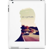 Never in fact homeless iPad Case/Skin