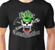 Construction Skull 2 with Crossed Tools Green Unisex T-Shirt