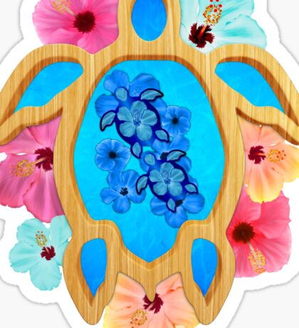 Hawaiian Blue Honu Sticker