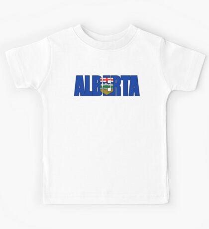 Alberta Canada Flag Kids Tee