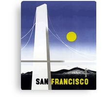 Vintage San Francisco Bridge Travel Canvas Print